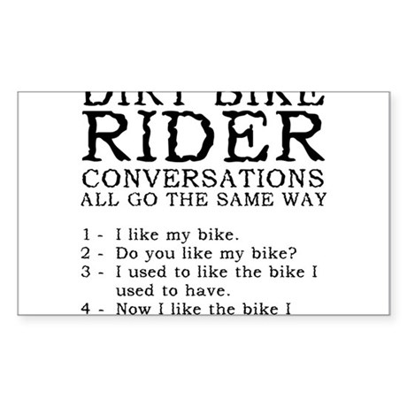 Dirt Bike Rider Conversations Funny T-Shirt Sticke