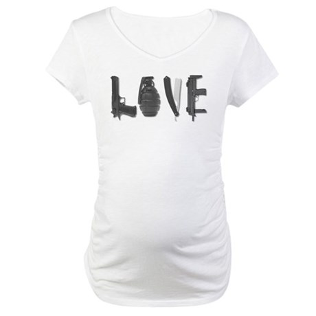 Weapons Of Love Funny T-Shirt Maternity T-Shirt