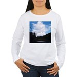 Eel River with Clouds Women's Long Sleeve T-Shirt