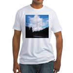 Eel River with Clouds Fitted T-Shirt