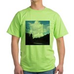Eel River with Clouds Green T-Shirt