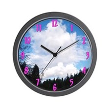 Eel River with Clouds Wall Clock