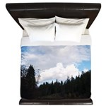 Eel River with Clouds King Duvet