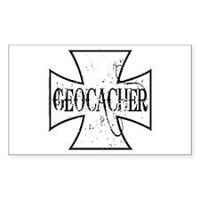 Geocacher Iron Cross Decal