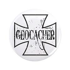 """Geocacher Iron Cross 3.5"""" Button (100 pack)"""