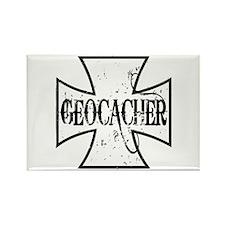 Geocacher Iron Cross Rectangle Magnet (10 pack)