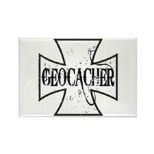 Geocacher Iron Cross Rectangle Magnet
