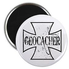Geocacher Iron Cross Magnet