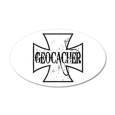 Geocacher Iron Cross Wall Decal