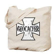 Geocacher Iron Cross Tote Bag