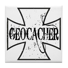 Geocacher Iron Cross Tile Coaster
