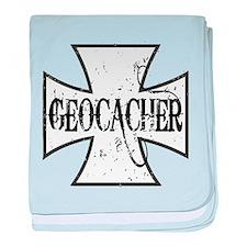 Geocacher Iron Cross baby blanket