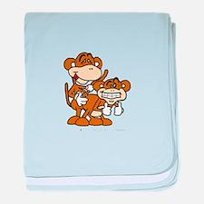 Monkey Love! baby blanket