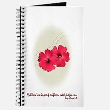 Vintage Hibiscus Wedding Journal