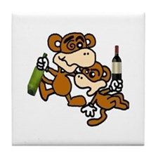 drunken monkeys! Tile Coaster
