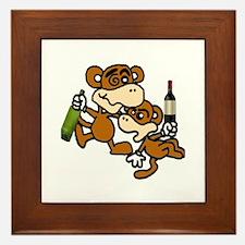 drunken monkeys! Framed Tile