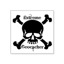 "Extreme Geocacher Square Sticker 3"" x 3"""