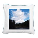 Eel River with Clouds Square Canvas Pillow