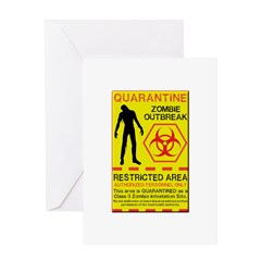Zombie Outbreak Greeting Card