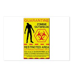 Zombie Outbreak Postcards (Package of 8)