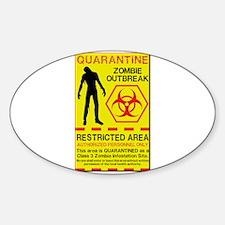 Zombie Outbreak Sticker (Oval)