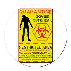 Zombie Outbreak Round Car Magnet