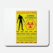 Zombie Outbreak Mousepad
