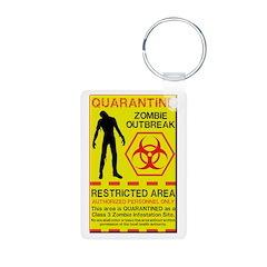 Zombie Outbreak Keychains
