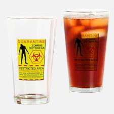 Zombie Outbreak Drinking Glass