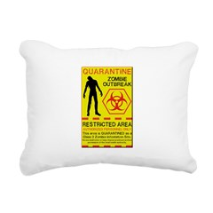 Zombie Outbreak Rectangular Canvas Pillow