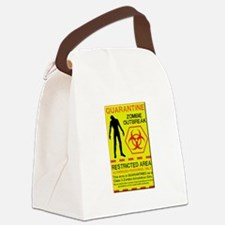 Zombie Outbreak Canvas Lunch Bag