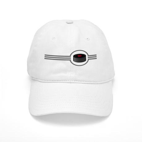 Canadian Hockey Puck Stripes Cap