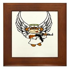 Angel demon monkey Framed Tile