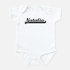 Black jersey: Natalia Infant Bodysuit
