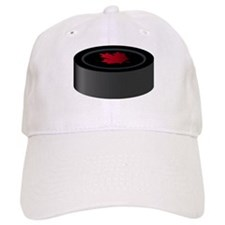 Canadian Hockey Puck Baseball Cap