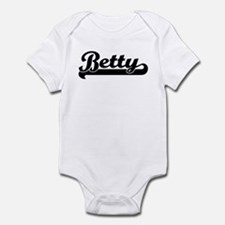 Black jersey: Betty Infant Bodysuit