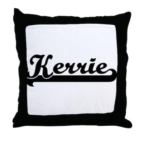 Black jersey: Kerrie Throw Pillow