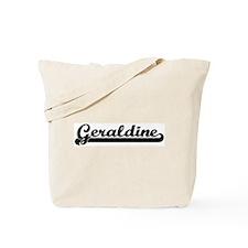 Black jersey: Geraldine Tote Bag