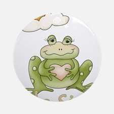 Little Sister Frog Ornament (Round)