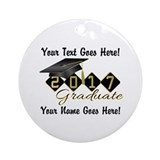 2017 graduation Round Ornaments