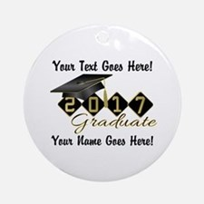 Graduate Black 2017 Round Ornament
