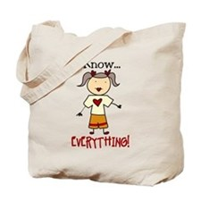 I Know Everything Tote Bag