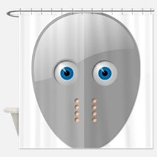 Cartoon Hockey Mask Shower Curtain