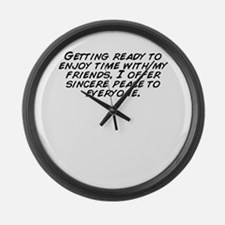 Cute Sincere Large Wall Clock