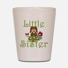 Little Sister Fluffy Pup 2 Shot Glass