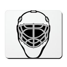 White Goalie Mask Mousepad