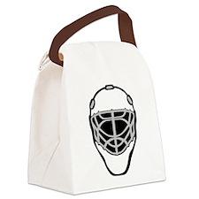 White Goalie Mask Canvas Lunch Bag