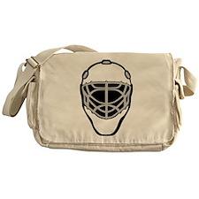 White Goalie Mask Messenger Bag