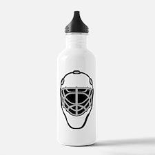 White Goalie Mask Water Bottle