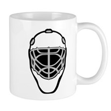 White Goalie Mask Small Mug